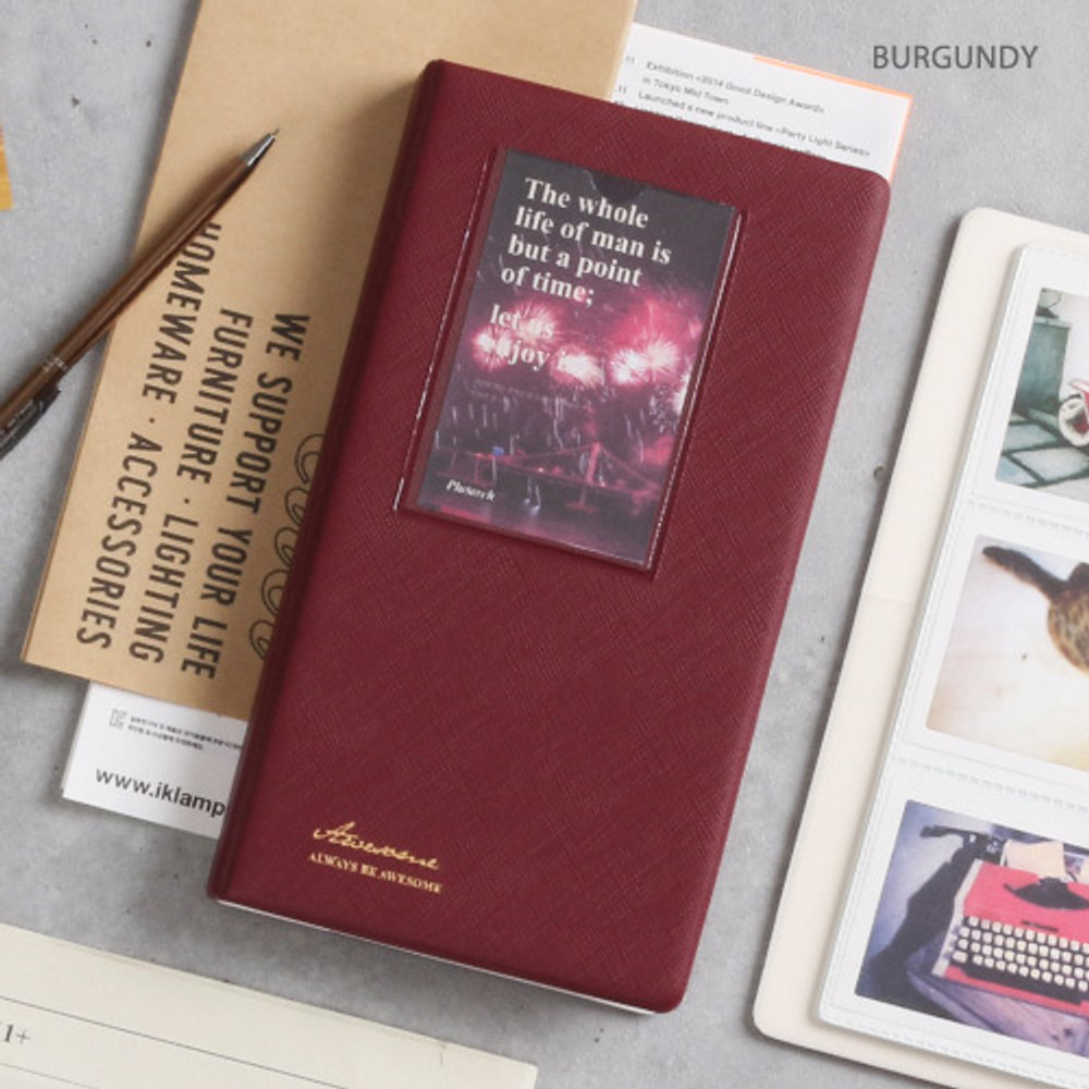 Burgundy - Awesome instax mini slip in photo album