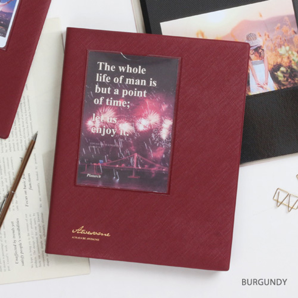Burgundy - Awesome self adhesive photo album