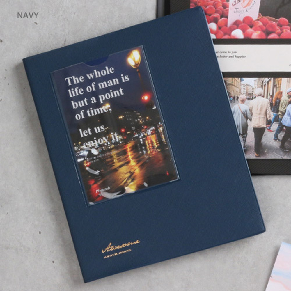 Navy - Awesome self adhesive photo album