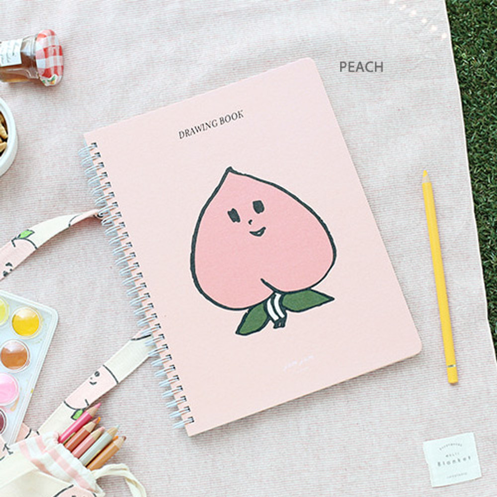 Peach - Jam Jam spiral drawing notebook