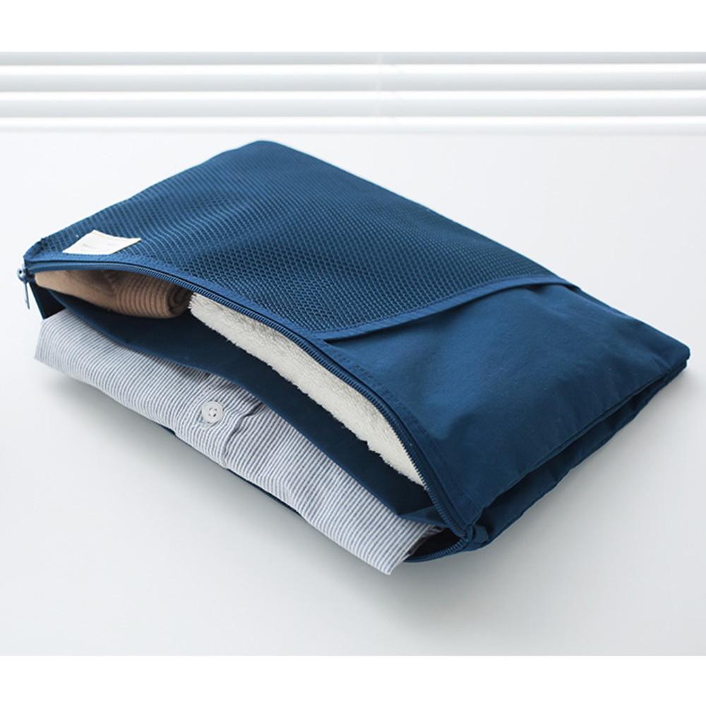 Indigo - A low hill basic mesh pocket file pouch