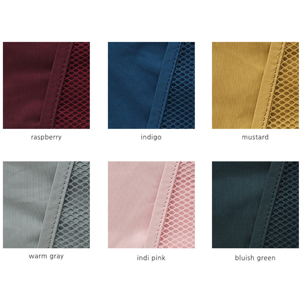 Colors of A low hill basic mesh pocket file pouch