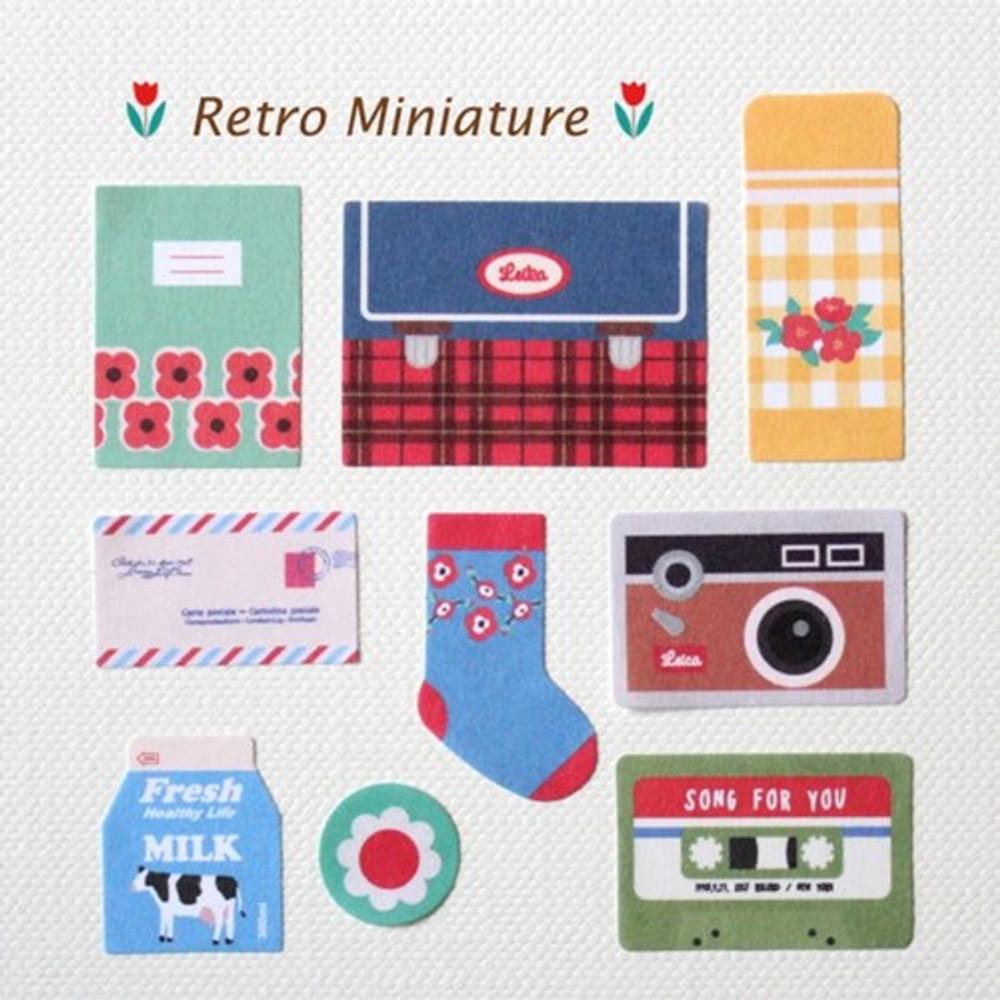 Gentle Wave Gentle Wave Retro Miniature deco paper sticker