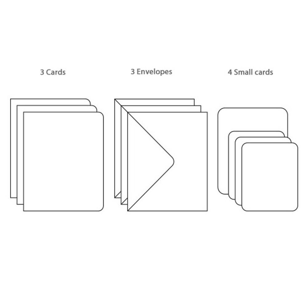 Composition of Flower illustration card set ver.6