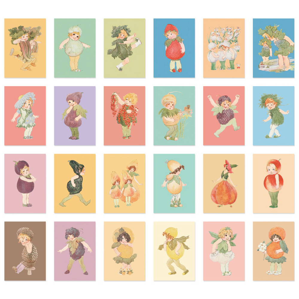 Composition of Sweety label paper sticker set