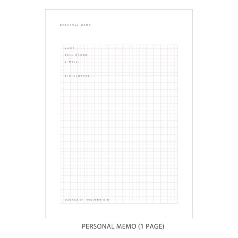Personal memo