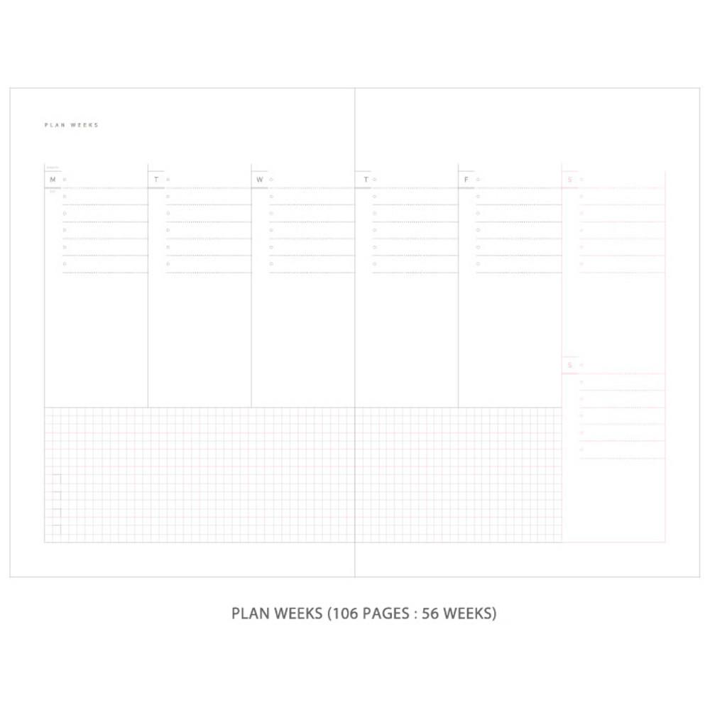 Plan weeks - Gradation undated weekly planner scheduler