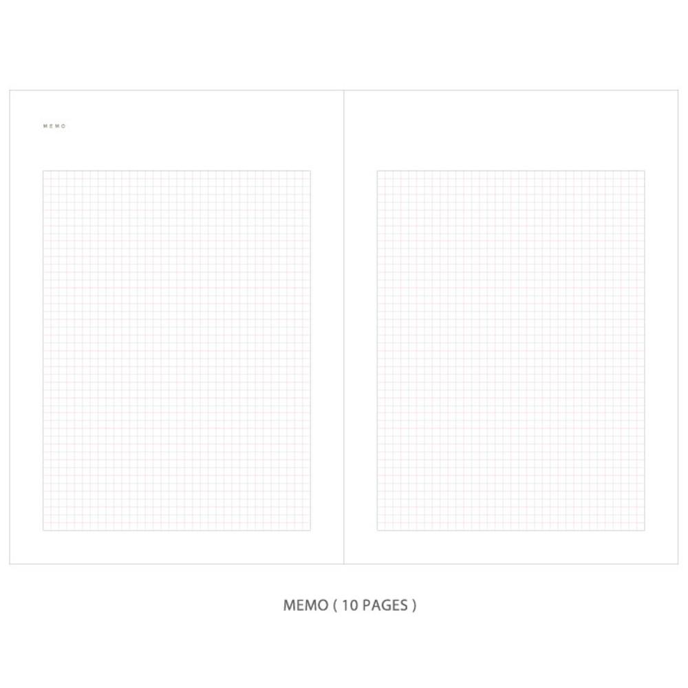 Memo - Gradation undated weekly planner scheduler