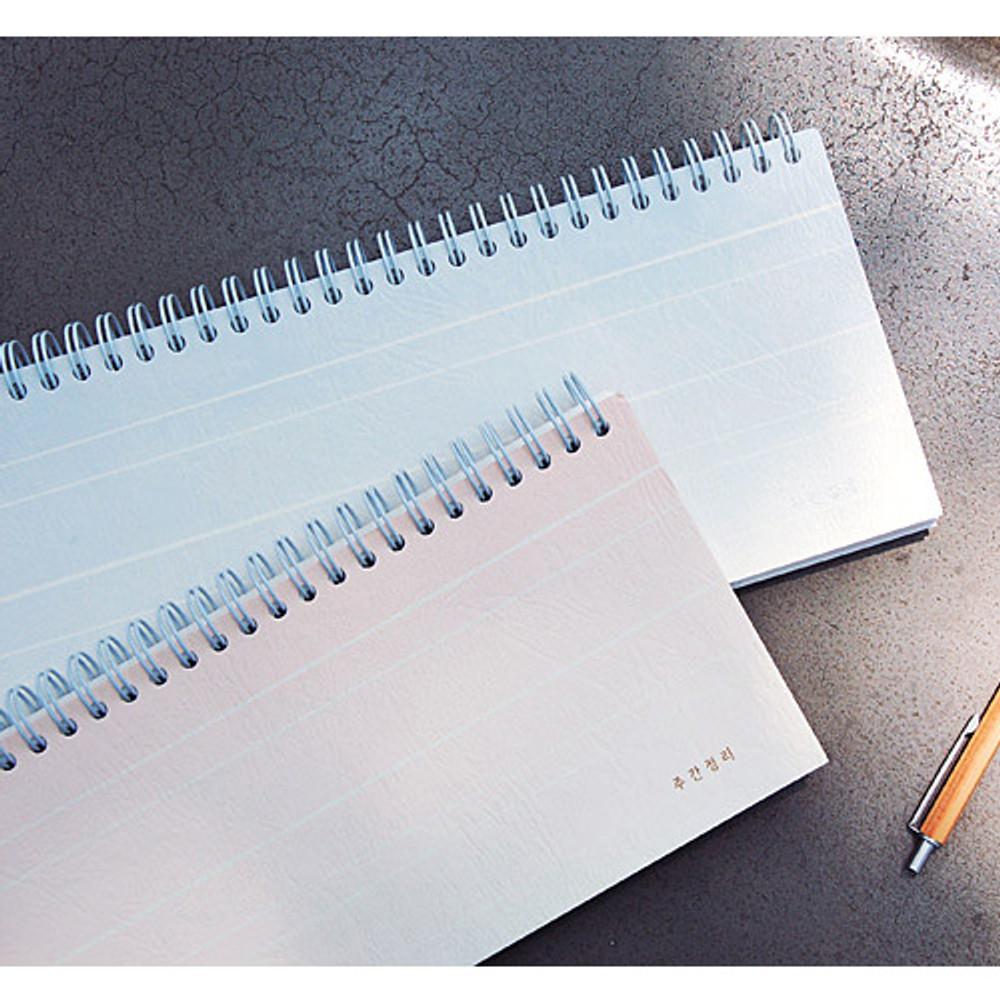 Gradation spiral undated weekly desk planner