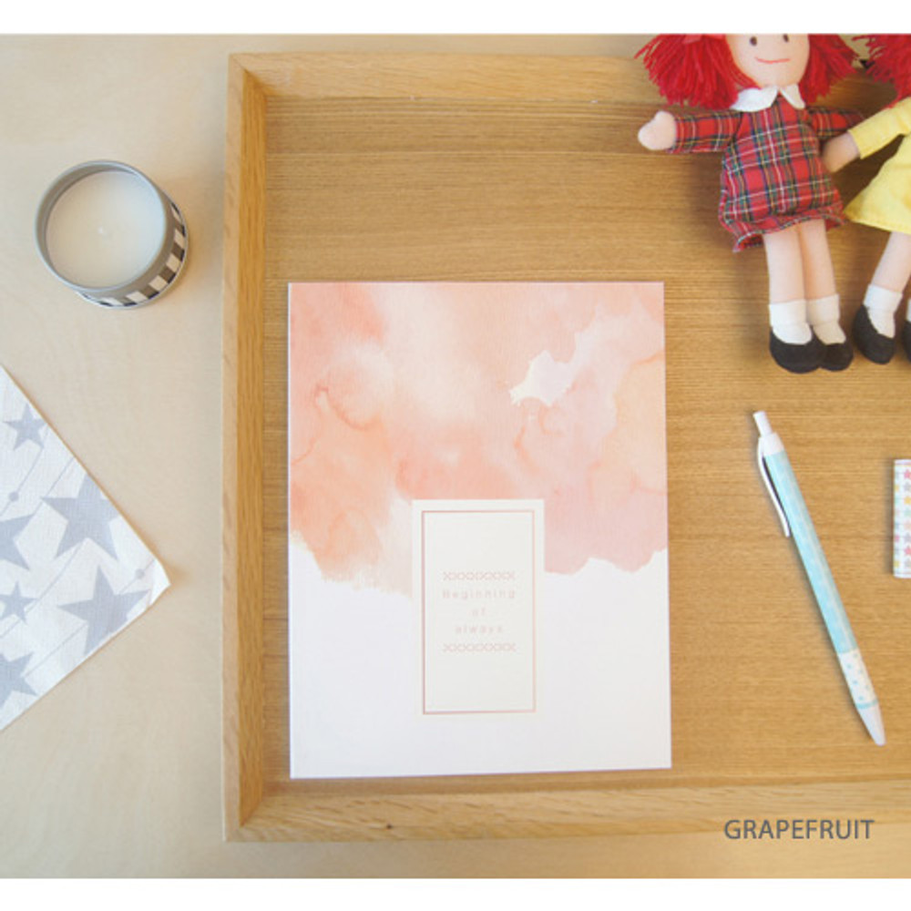 Grapefruit - Watercolor lined notebook
