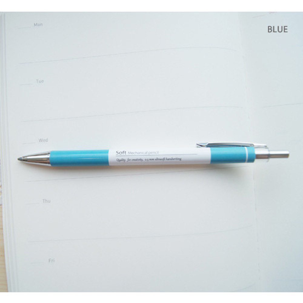 Blue - Pastel soft 0.5mm sharp mechanical pencil