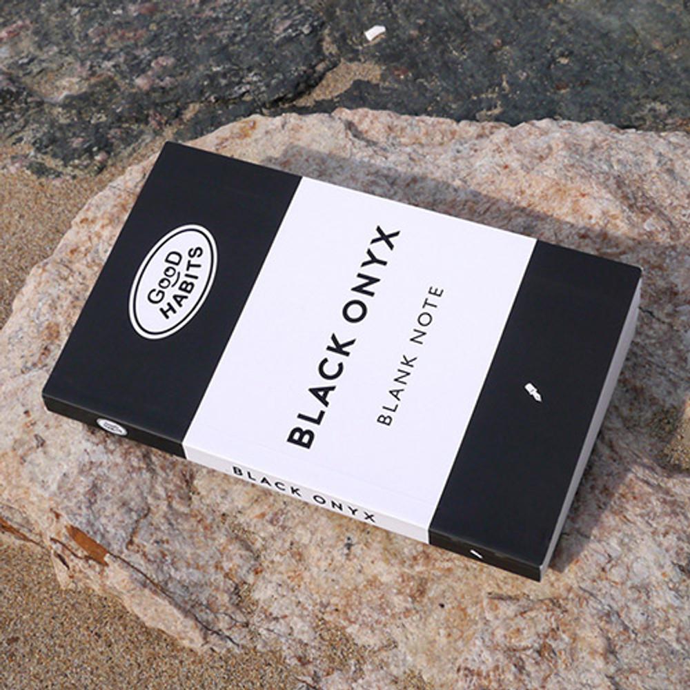 Good habits Black onyx plain notebook