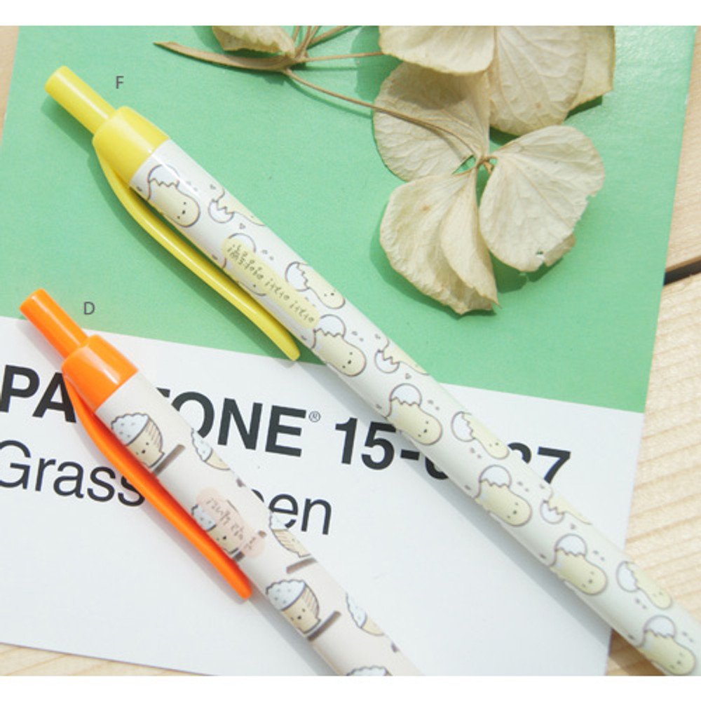 D, F - Cheer up knock retractable black ballpoint pen