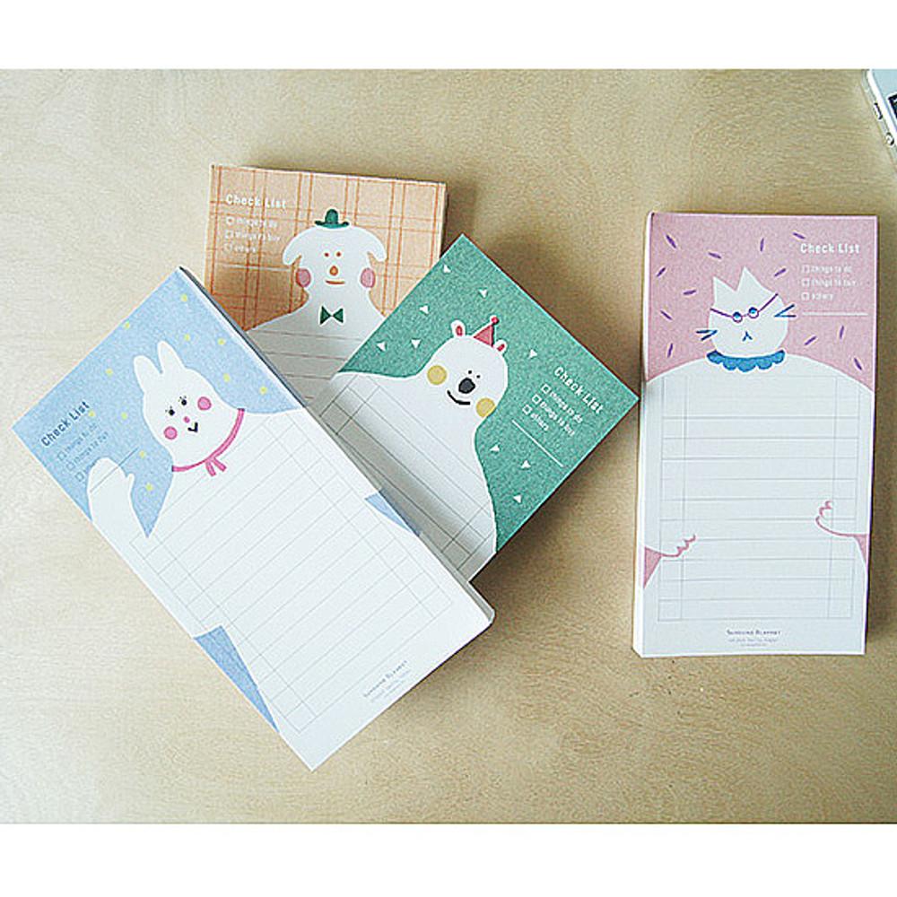 Sunshine blanket checklist notepad