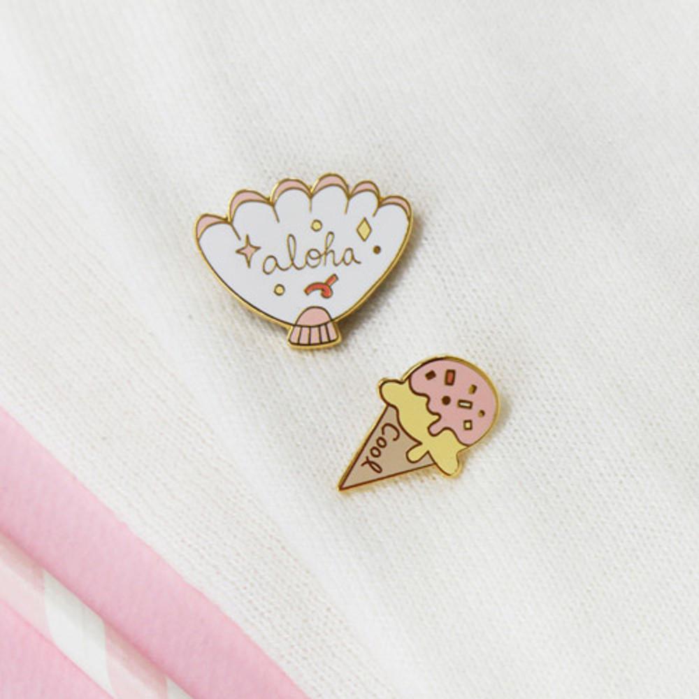 Detail of Always sweet badge