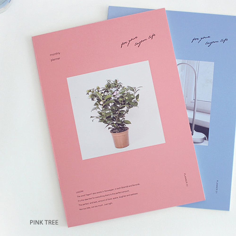 Pink tree - Lagom one month undated daily planner