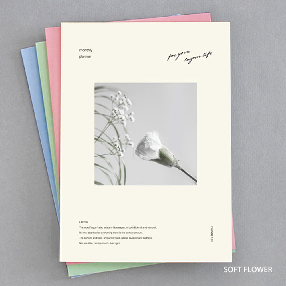 Soft flower - Lagom one month undated daily planner