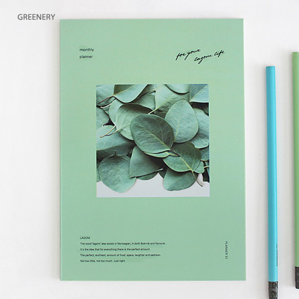 Greenery - Lagom one month undated daily planner