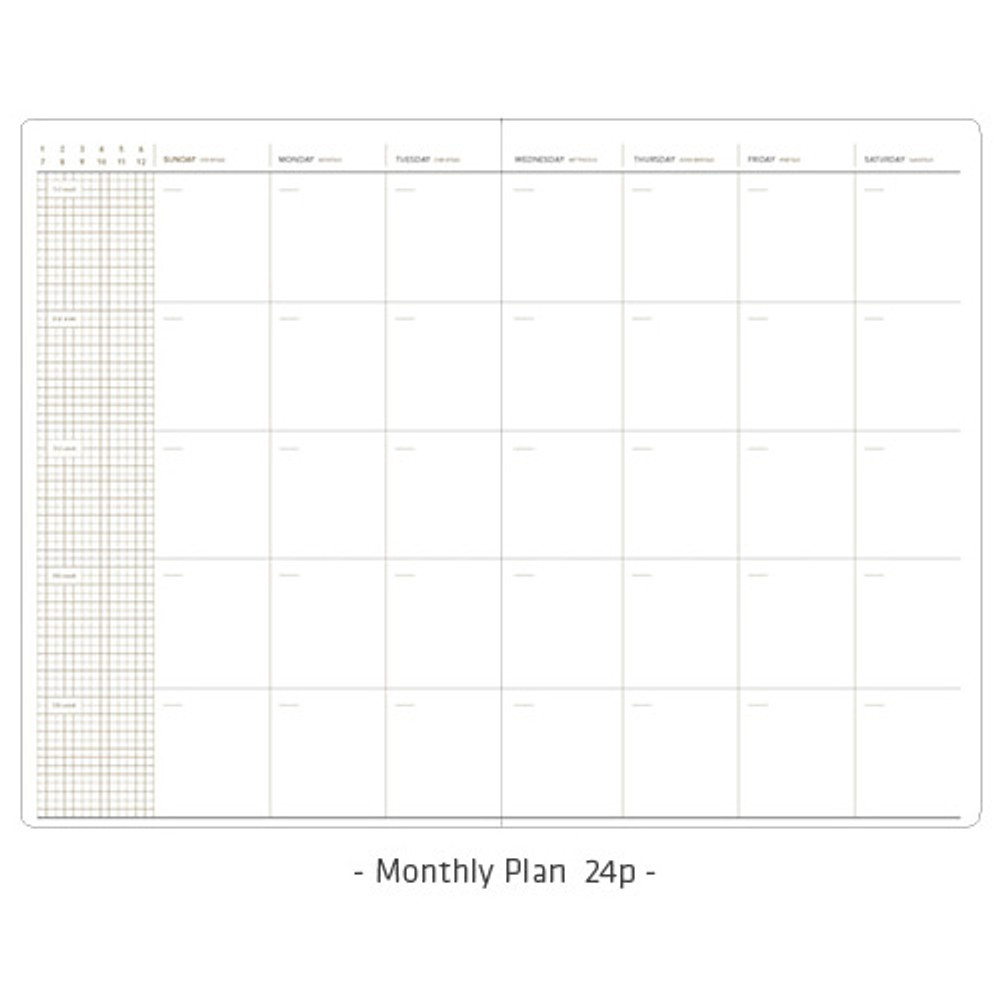 Monthly plan - Simple and basic undated daily planner