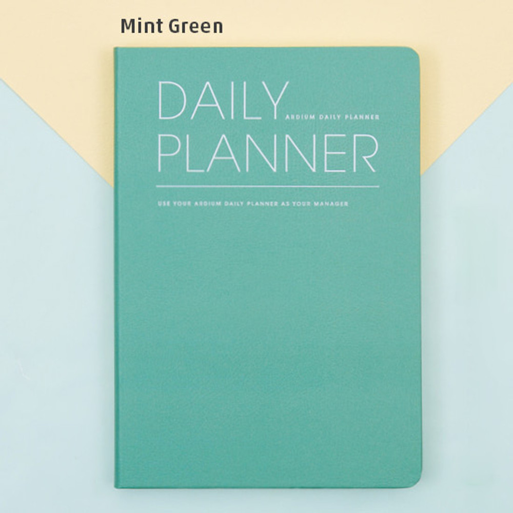Mint green - Simple and basic undated daily planner