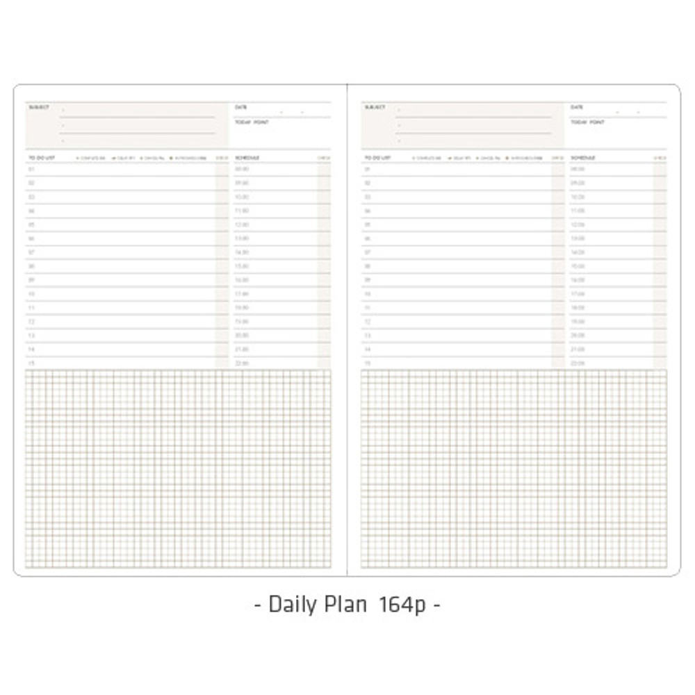 Daily plan - Simple and basic undated daily planner