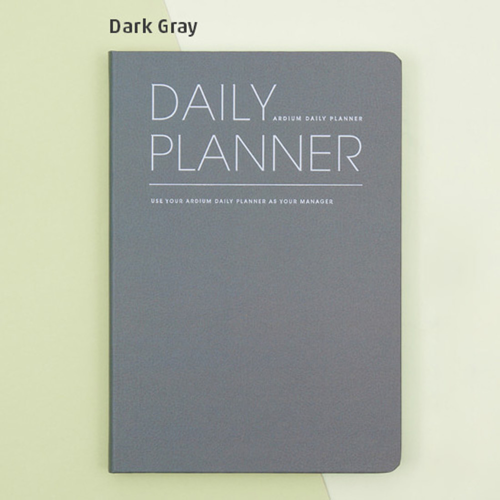 Dark gray - Simple and basic undated daily planner