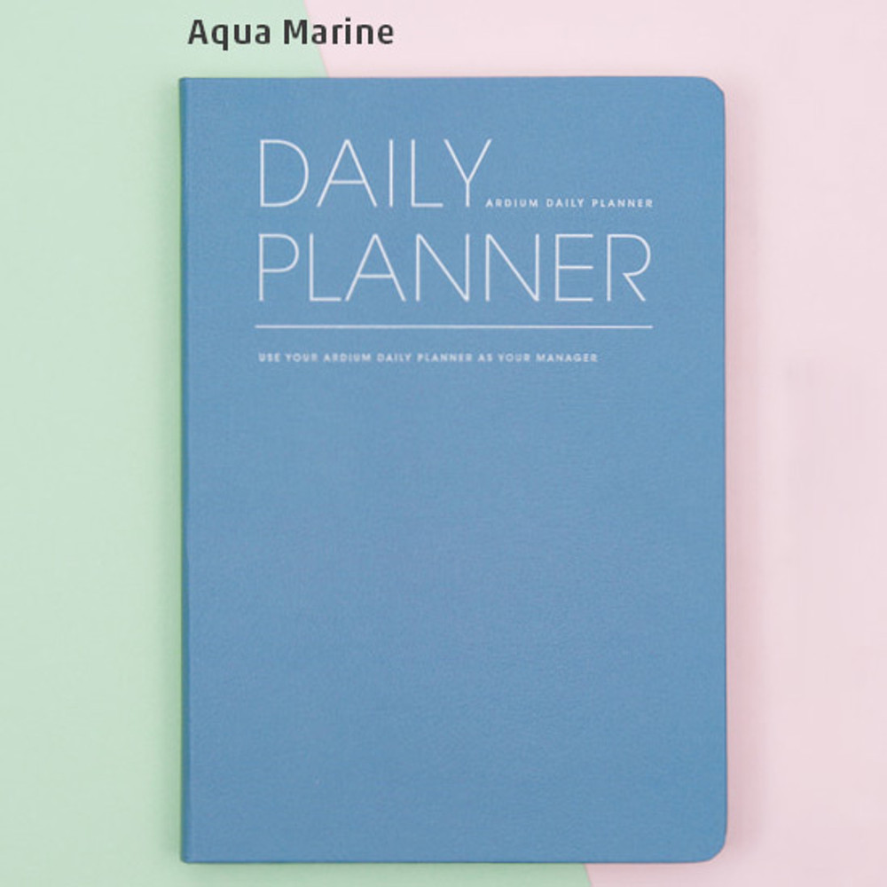Aqua marine - Simple and basic undated daily planner