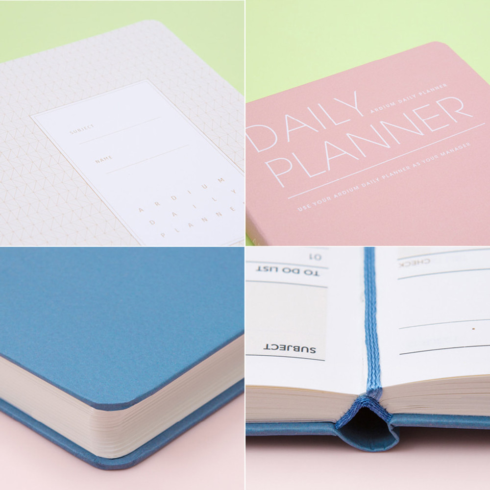 Detail of Simple and basic undated daily planner