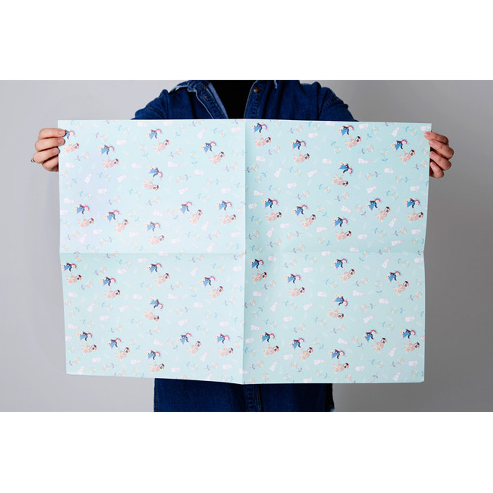 Unfold - Anne of green gables pattern wrapping paper set