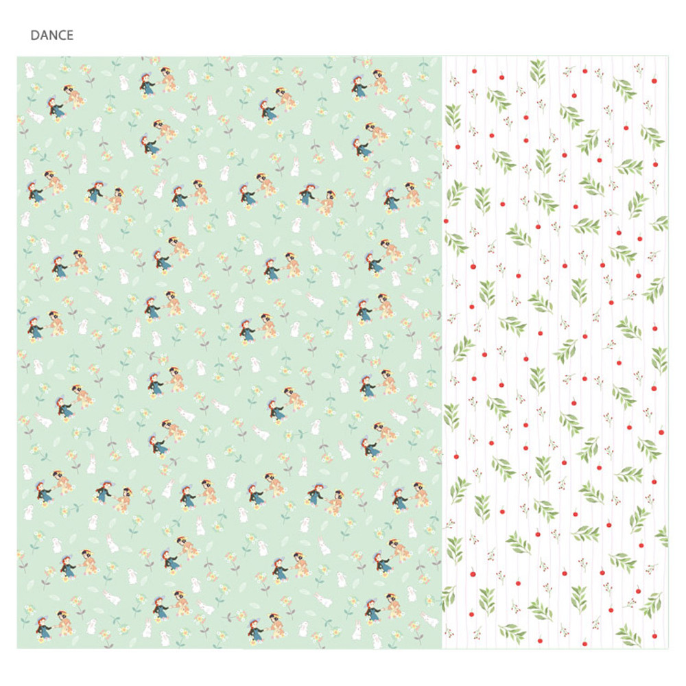 Dance -Anne of green gables pattern wrapping paper set