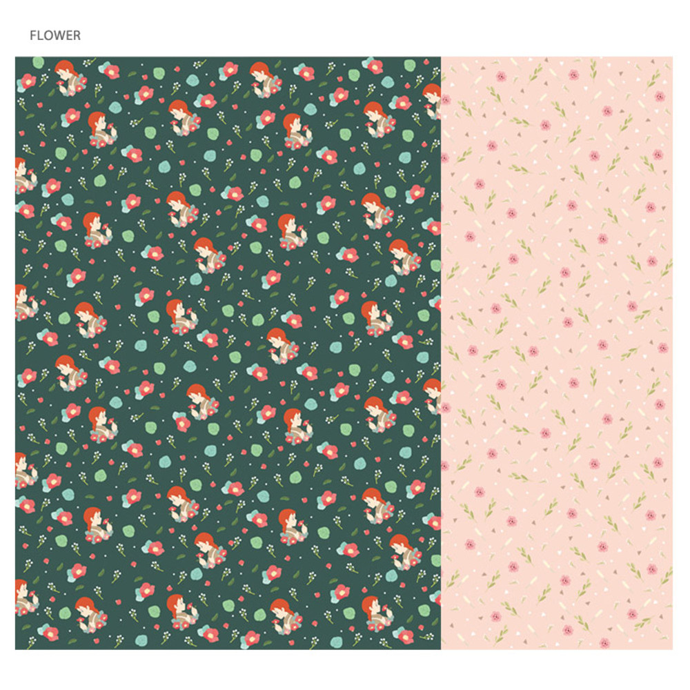 Flower - Anne of green gables pattern wrapping paper set