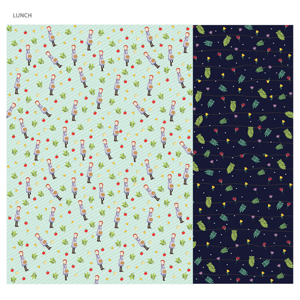 Lunch - Anne of green gables pattern wrapping paper set