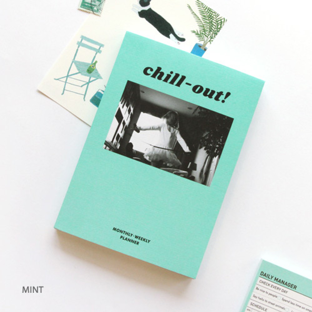 Mint - Chill out undated weekly planner
