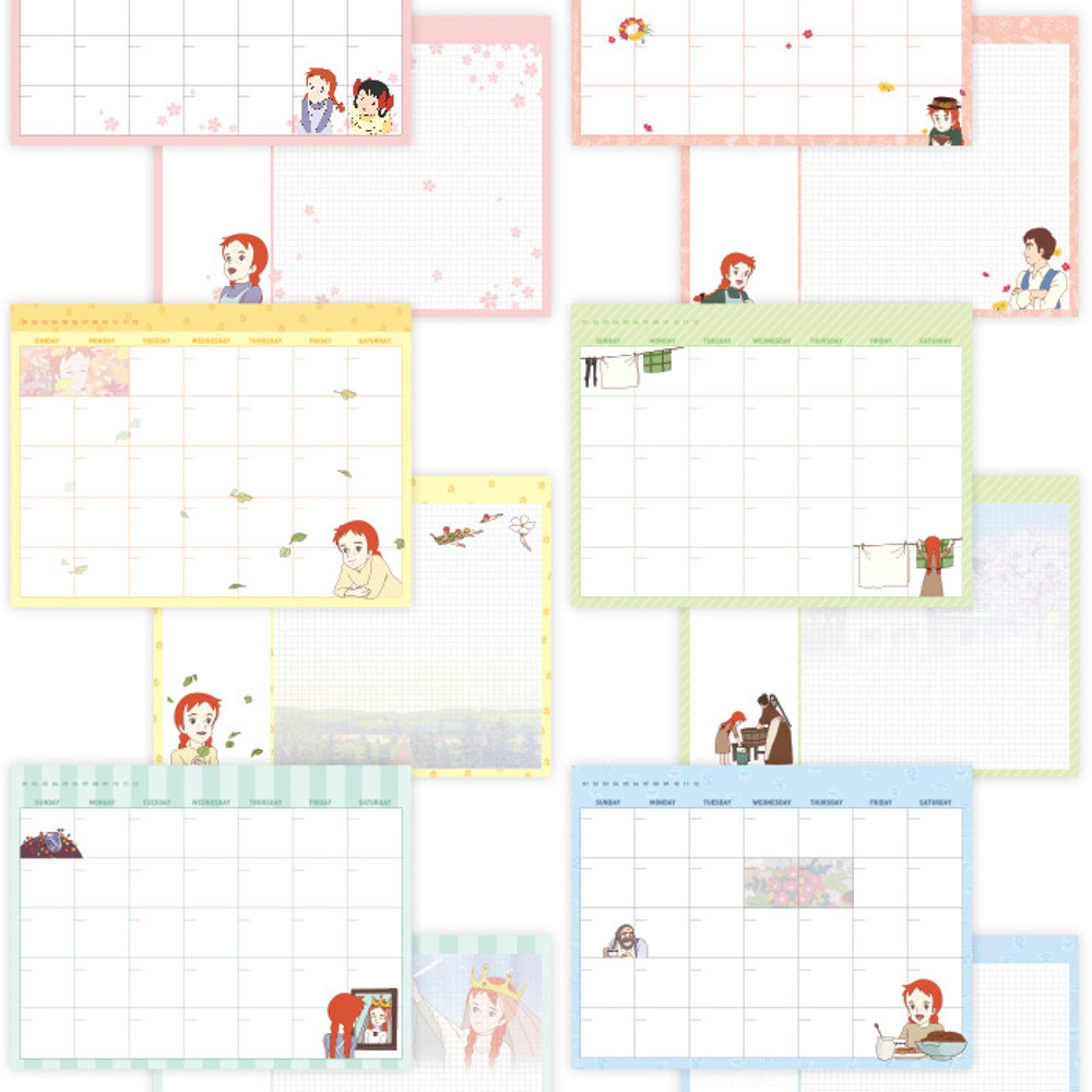 Anne of green gables undated monthly desk planner