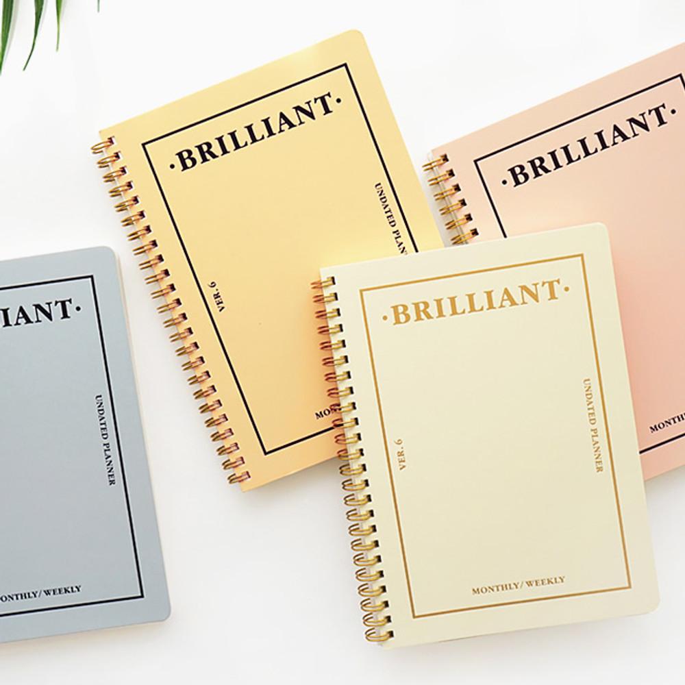 Brilliant spiral undated weekly diary scheduler