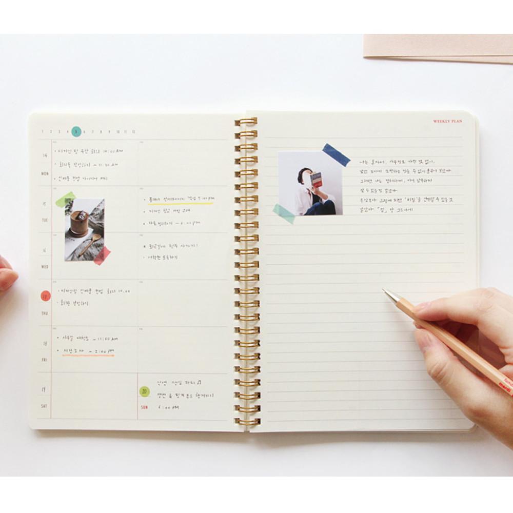 Weekly plan - Brilliant spiral undated weekly diary scheduler