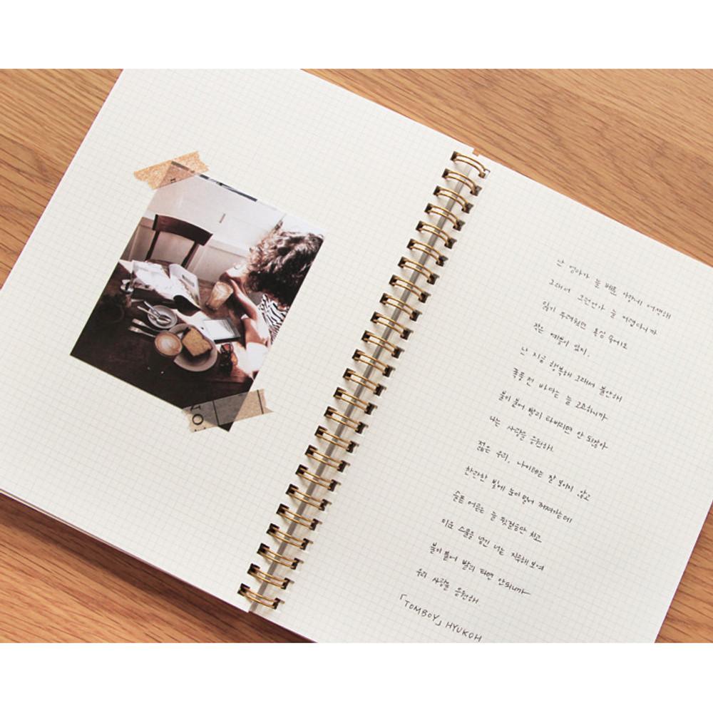 Grid note - Brilliant spiral undated weekly diary scheduler