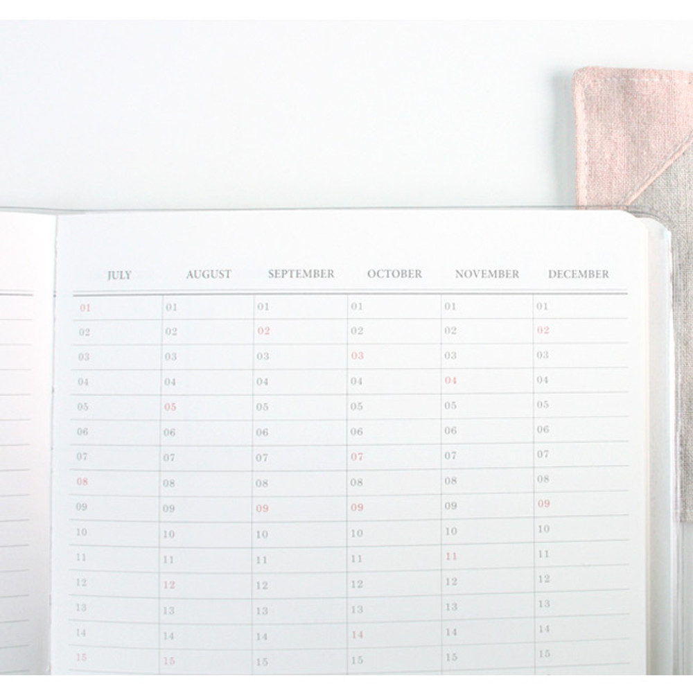Yearly plan - 2018 Spring come pattern dated monthly planner