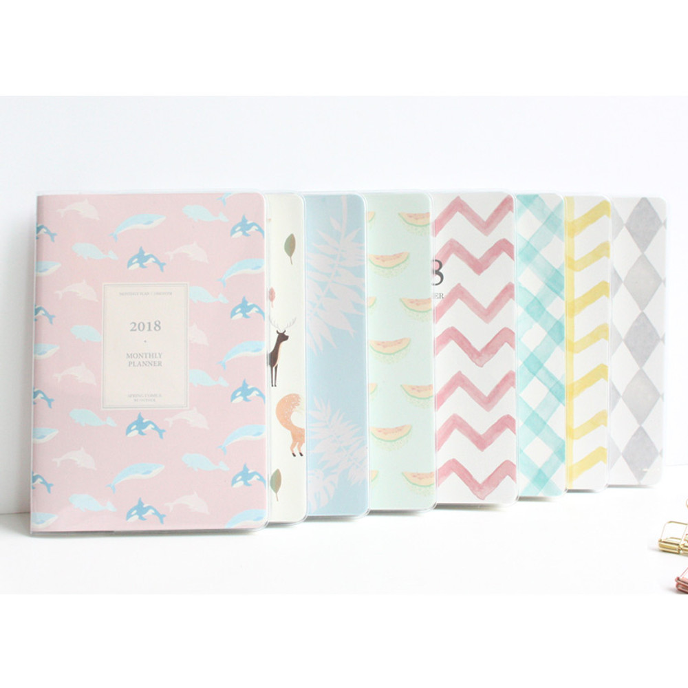 2018 Spring come pattern dated monthly planner