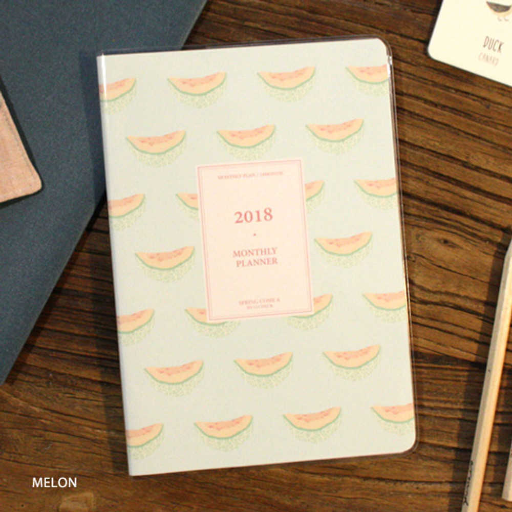 Melon - 2018 Spring come pattern dated monthly planner