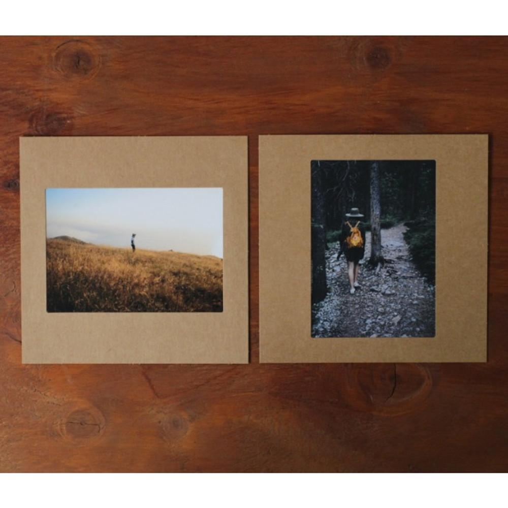 Square 4X6 kraft paper photo frame set o