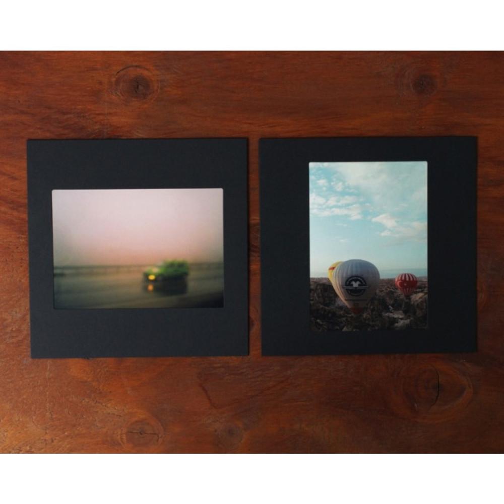 Square 4X6 Black paper photo frame set