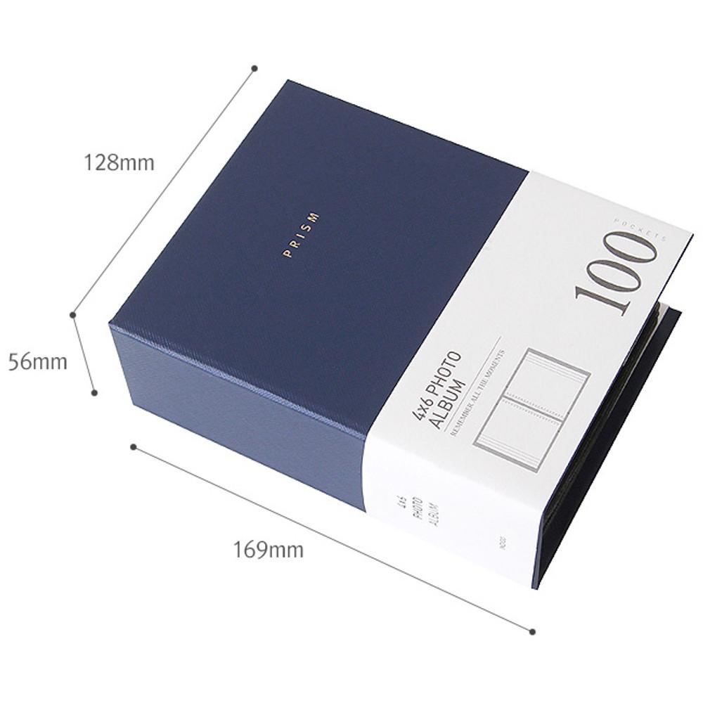 Size of Prism 4X6 slip in pocket photo album