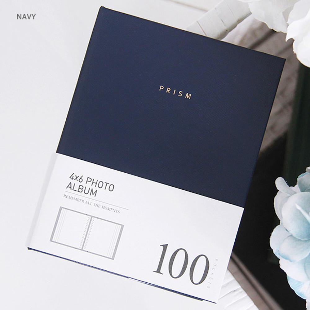Navy - Prism 4X6 slip in pocket photo album