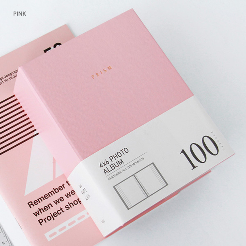Pink - Prism 4X6 slip in pocket photo album