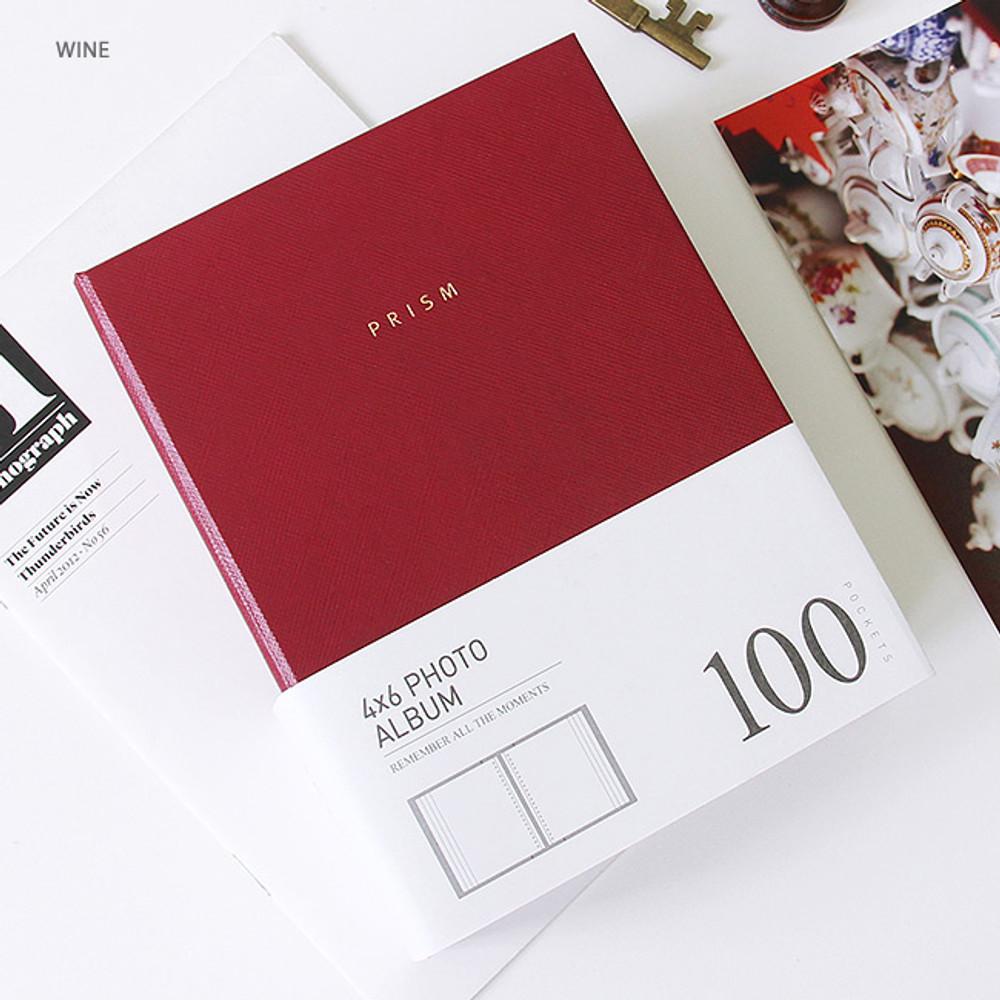 Wine - Prism 4X6 slip in pocket photo album
