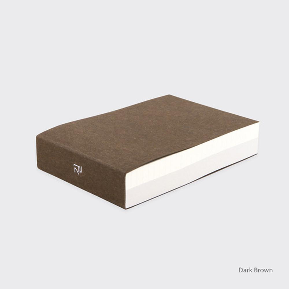 Dark brown - Spring feelings small grid and plain notepad