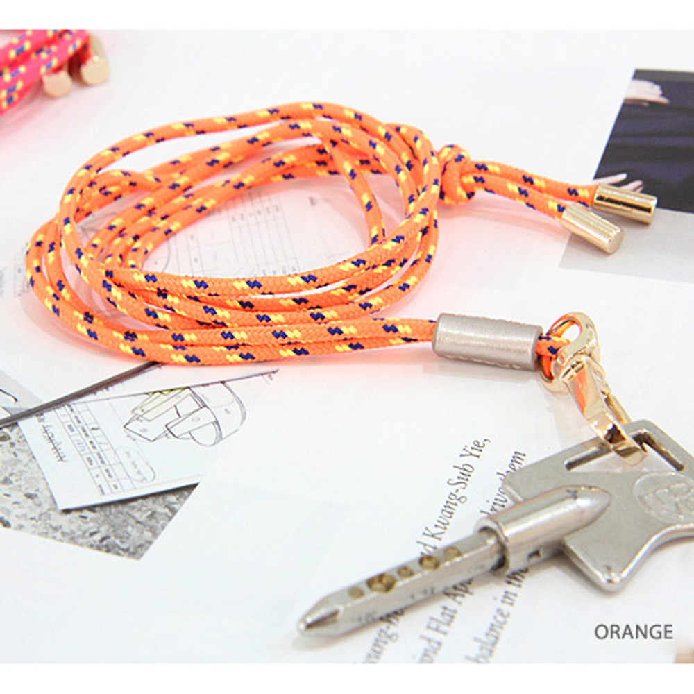 Orange - Day N zoo light color neck strap