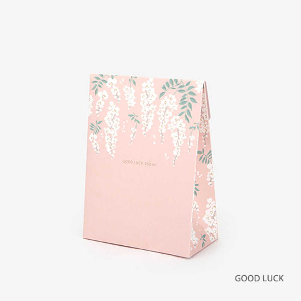 Good luck - For your heart pattern small paper gift bag