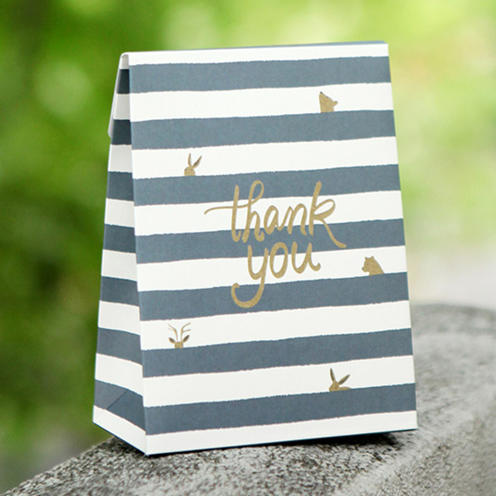 Thank you - For your heart pattern small paper gift bag